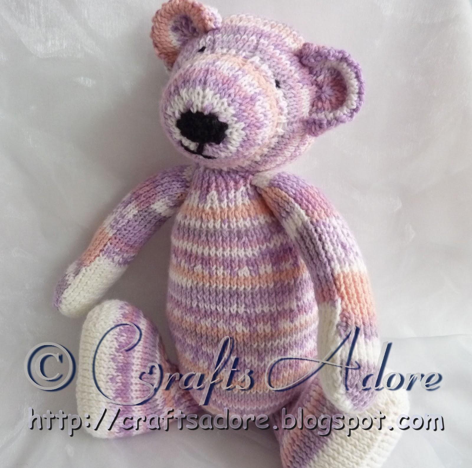 Adorable Knitted Sirdar Snuggly Teddy Bear