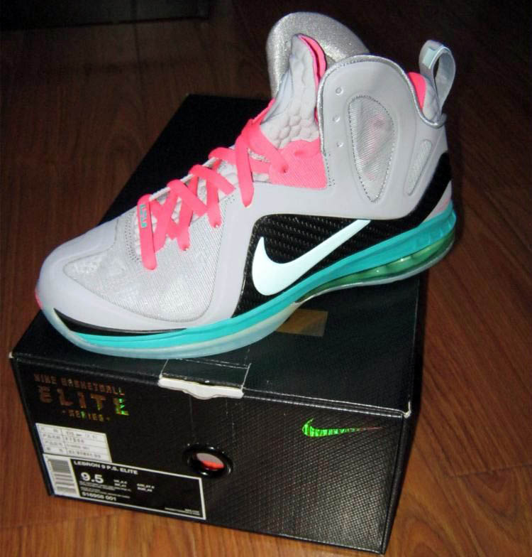 Lebron 9 South Beach Aluminum Black Blue Glow 516958 001