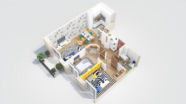 Mẫu căn hộ tiện dụng và thẩm mỹ