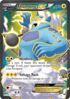 Thundurus EX Full Art Roaring Skies
