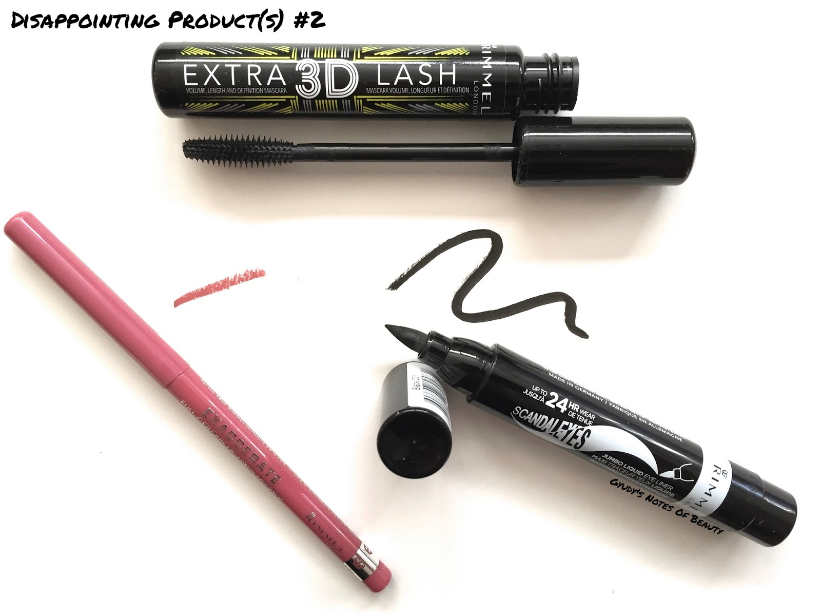 Rimmel East End Snob Pillow Talk Dupe Scandaleyes Liner 3D Mascara