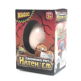 Hatching dinosaur egg - front