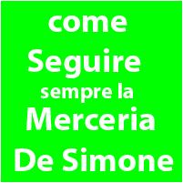 Come rimanere in contatto con la Merceria De Simone