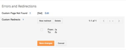 Comment faire Redirections personnalisées pour Blogger