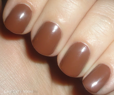 kleancolor cappuccino nail polish swatches and review