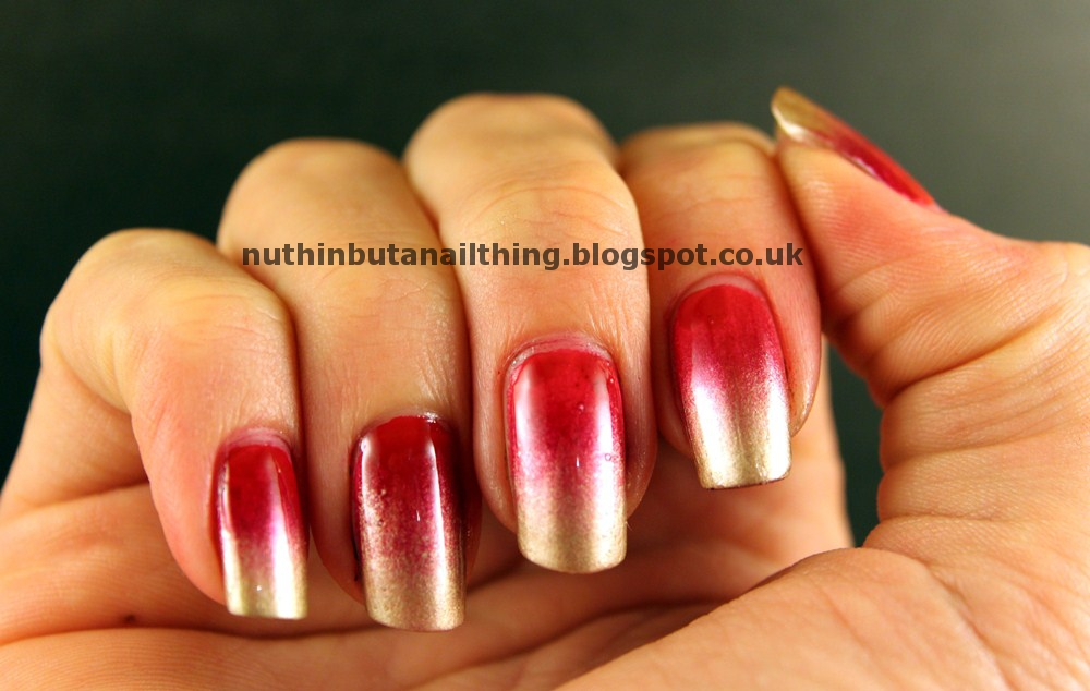 nuthin\' but a nail thing: Red and Gold Gradient
