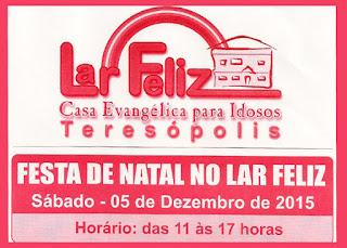 Festa de Natal no Lar Feliz Teresópolis RJ dia 05/12/15