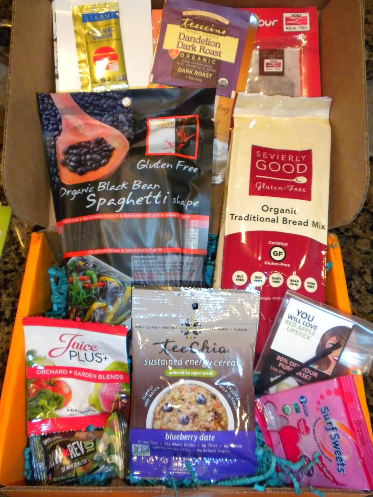 August 2014 Send Me Gluten Free box
