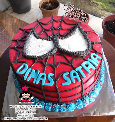 Kue Tart Spiderman Kepala Buttercream