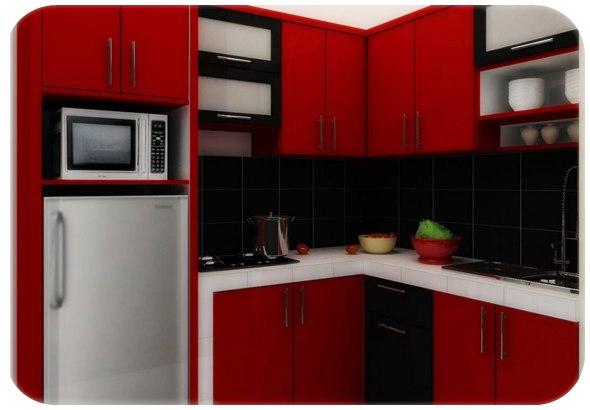 Contoh desain dapur rumah minimalis modern