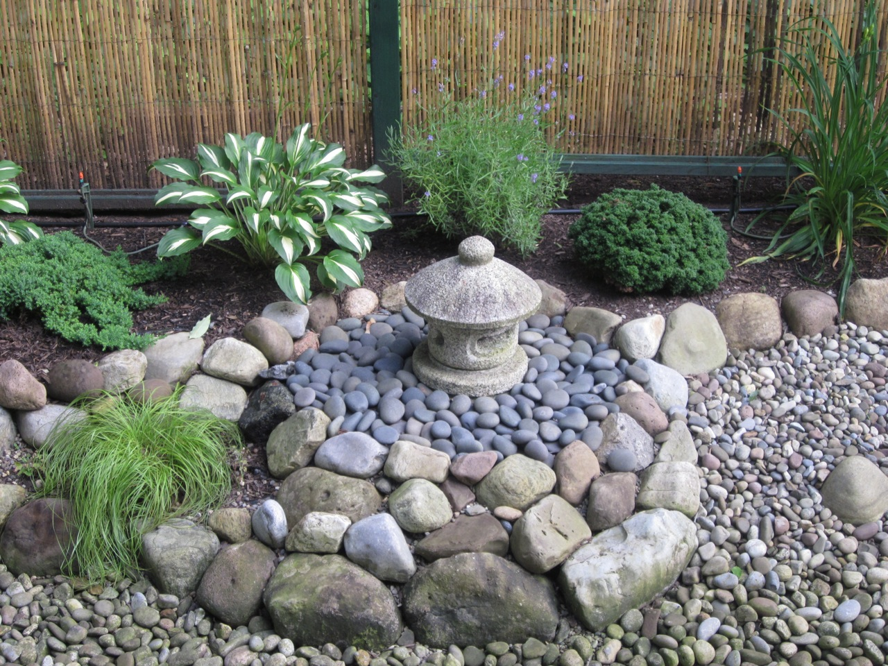My zen garden garden features for Garden design ideas using pebbles