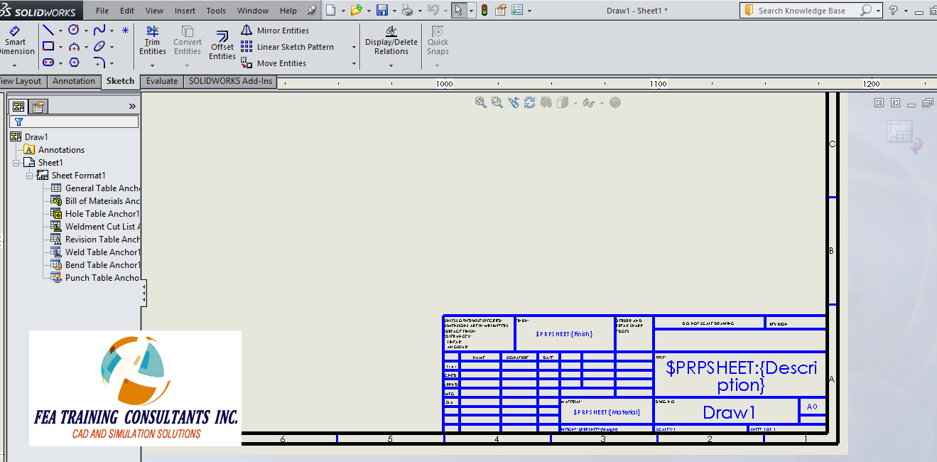 customized sheet format in solidworks