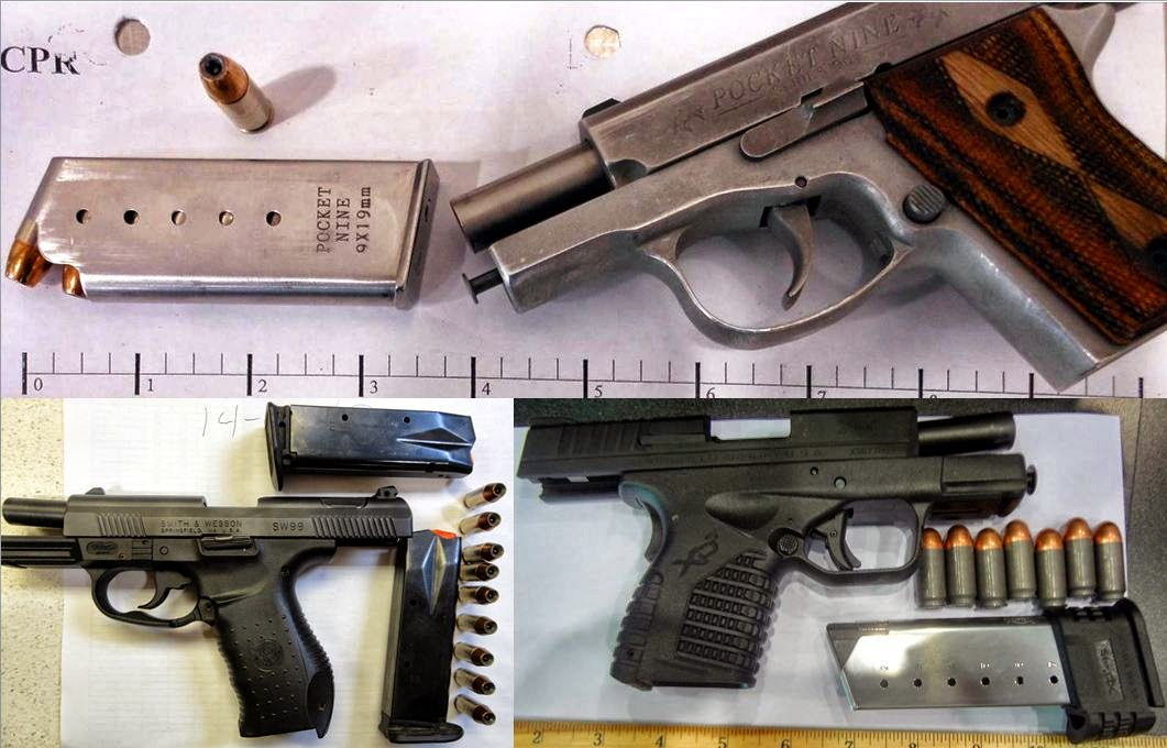 Guns Discovered at (T-B / L-R) CPR, MSY, TPA