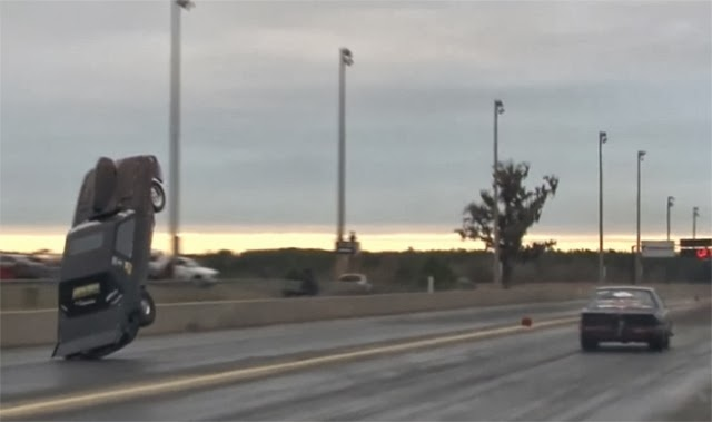 Flying Ford Mustang is in serious need of wheelie bars