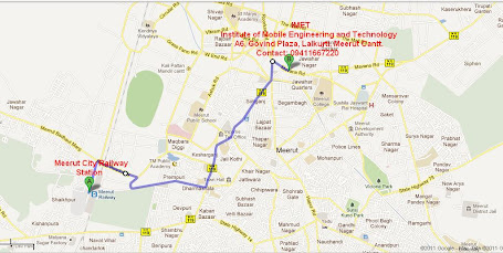 Railway Stattion To IMET Road Map