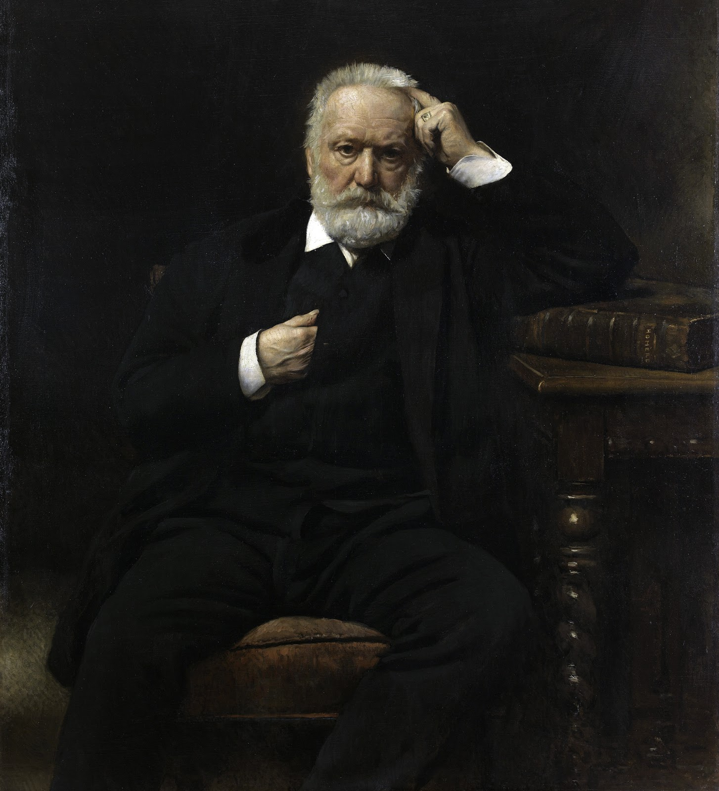 Leon  onnat Portrait of Victor Hugo