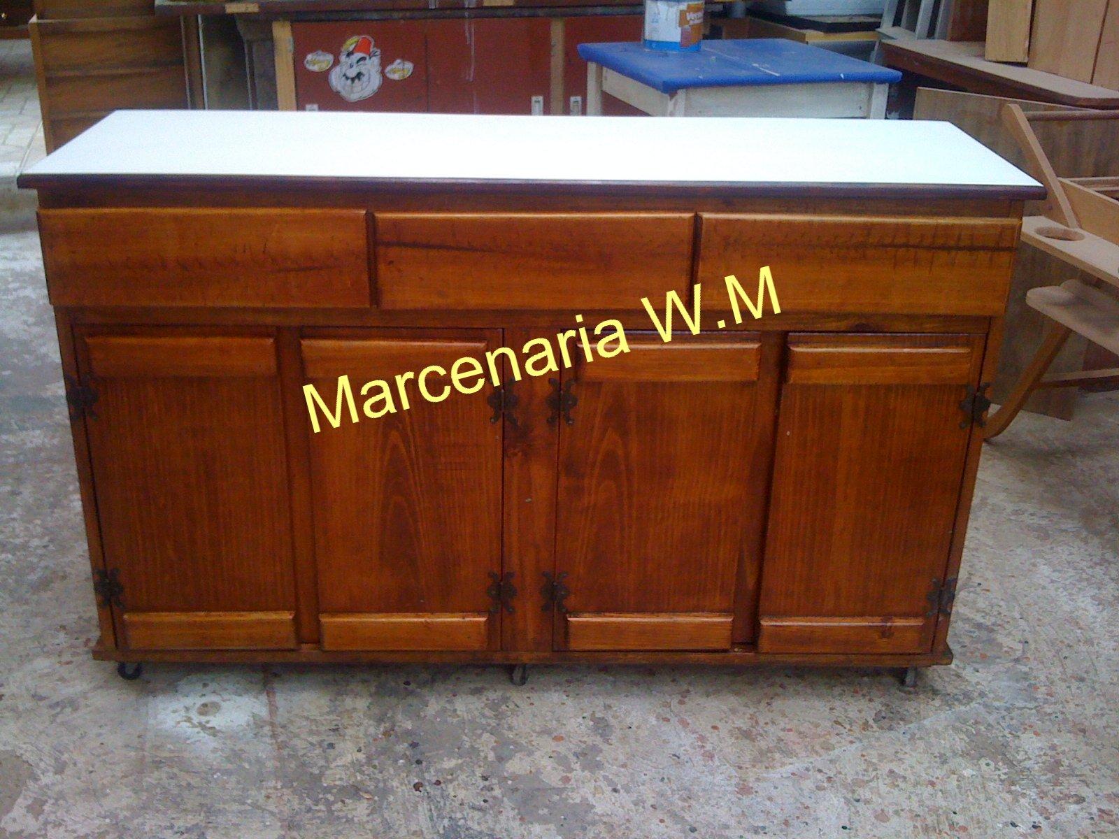 Armario De Cozinha Casas Bahia Preto E Branco ~  WM Marcenaria e Móveis Planejados  Restauraç u00e3o Aparador