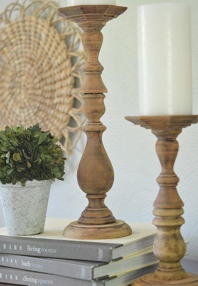 Muyvariado.com: diy, como hacer candelabros de madera reciclada