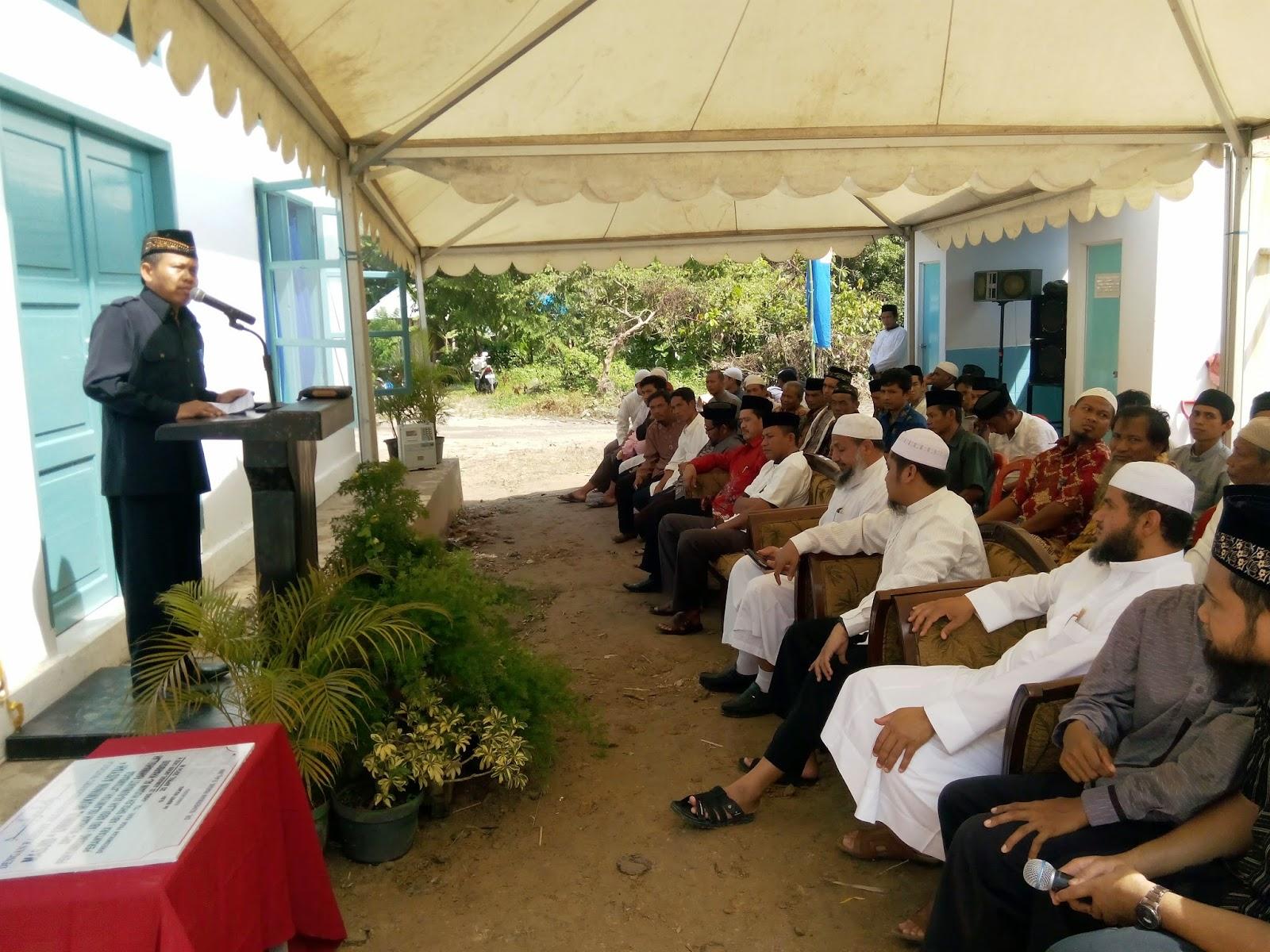 Bupati Kolaka Resmikan Masjid Wahdah Latambaga