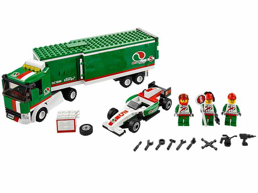LEGO gosSIP: 150413 LEGO 60025 Grand Prix Truck box art and pictures