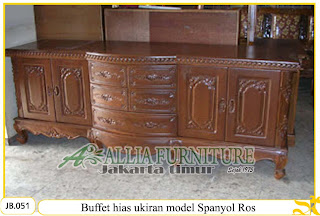 Buffet ukiran kayu jati model spanyol ros