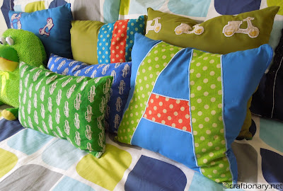 boys room pillows