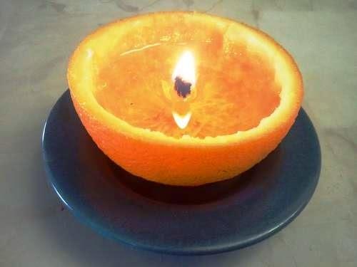 Linda vela-laranja para aromatizar sua casa!!
