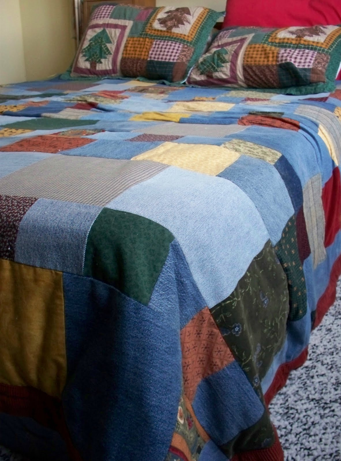 how to make a denim quilt from old jeans