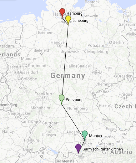 One-week tour through Germany