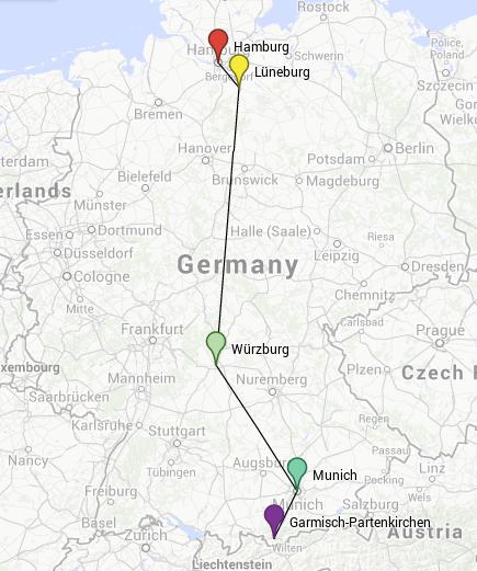One-week tour through Germany