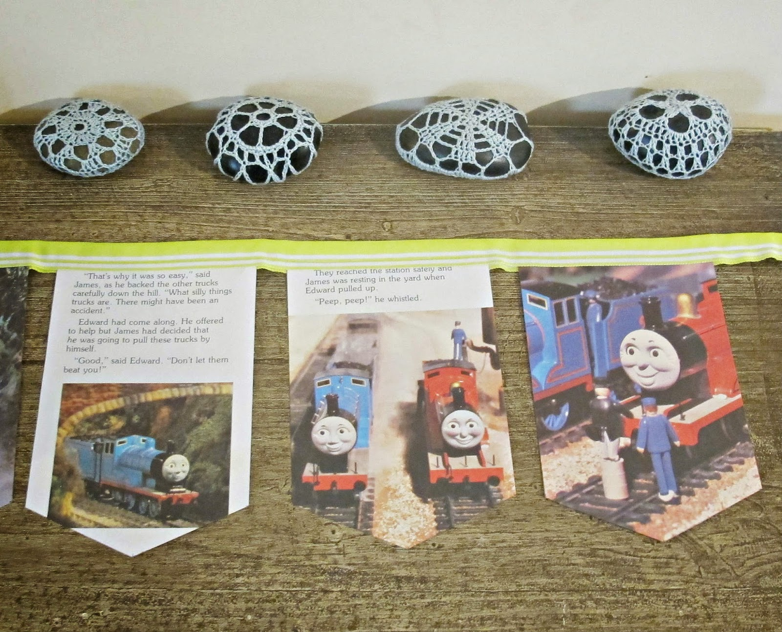 image thomas the tank engine bunting james and the troublesome trucks domum vindemia for sale etsy madeit children lime green boys