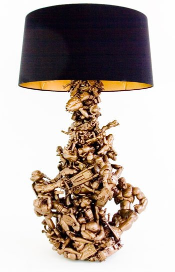 recycled toy lamp