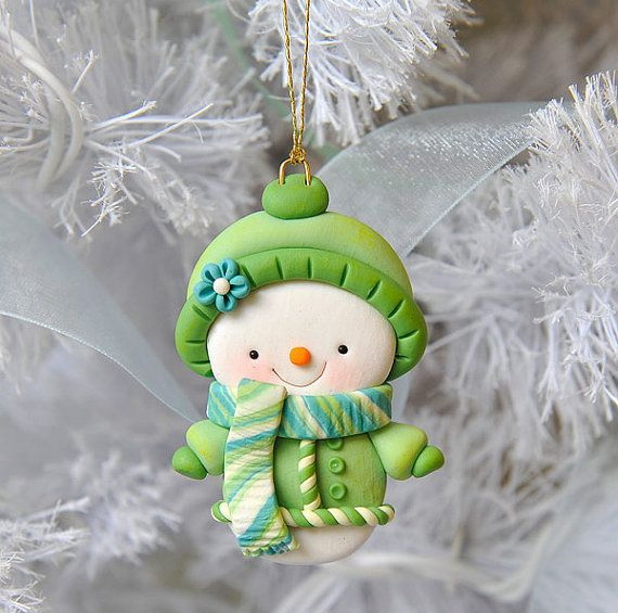 snowman ornament by my joyful moments polymer clay planet