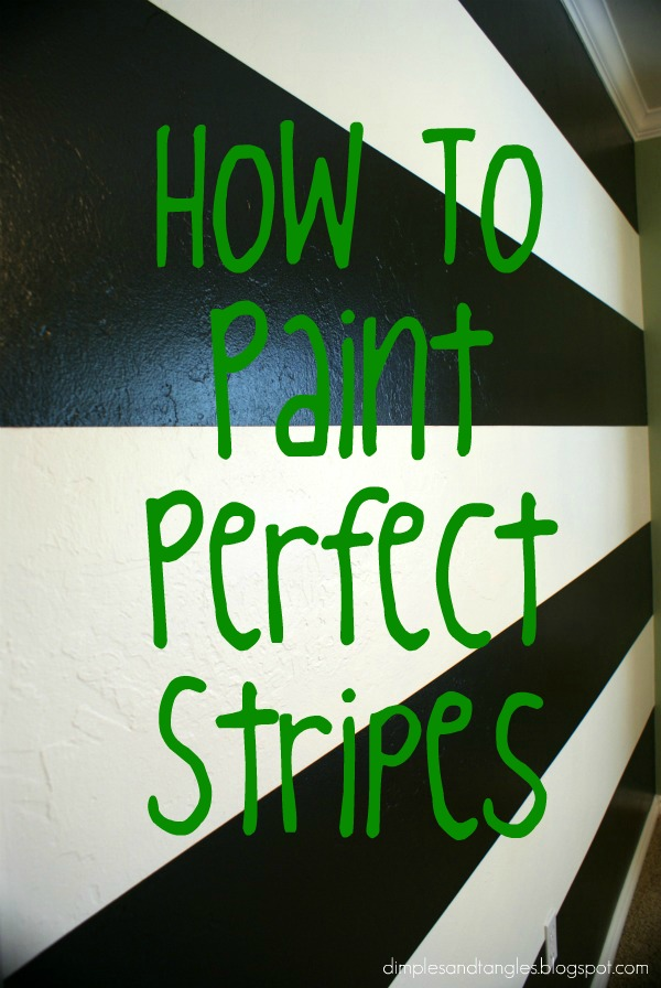how i painted a perfectly striped wall tutorial dimples and tangles. Black Bedroom Furniture Sets. Home Design Ideas