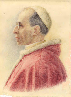Portrait of Pope Pius XII taken from Wikimedia Commons