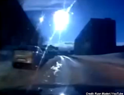 Stunning Footage of Suspected Meteor Captured by Dash-Cams 4-20-14