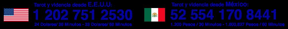 TAROT ESTADOS UNIDOS Y MEXICO