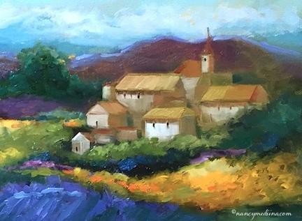 State 8 Medina >> Nancy Medina Art: Slice of Life - French Village Lavender and a Florida Workshop - Landscape and ...