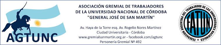 Gremial San Martín - AGTUNC - Nodocentes UNC y DASPU - No docentes UNC y DASPU