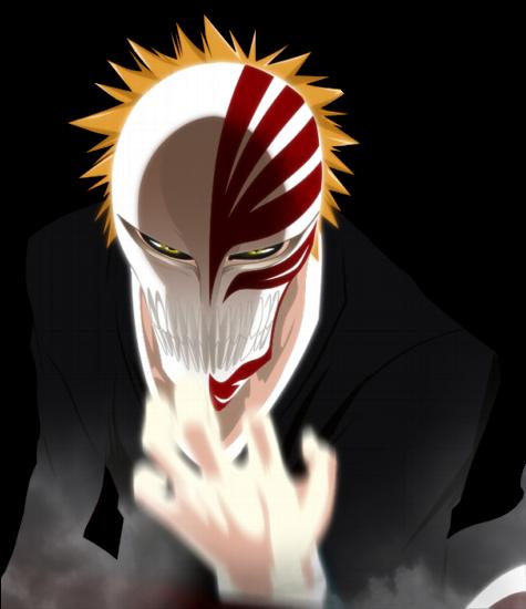 Shing halloween ichigo kurosaki bleach inspired makeup - Ichigo vizard mask ...