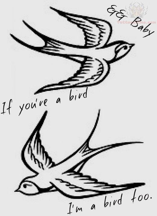 Bird Line Drawing Tattoo : Birds tattoos for you swallow bird tattoo design