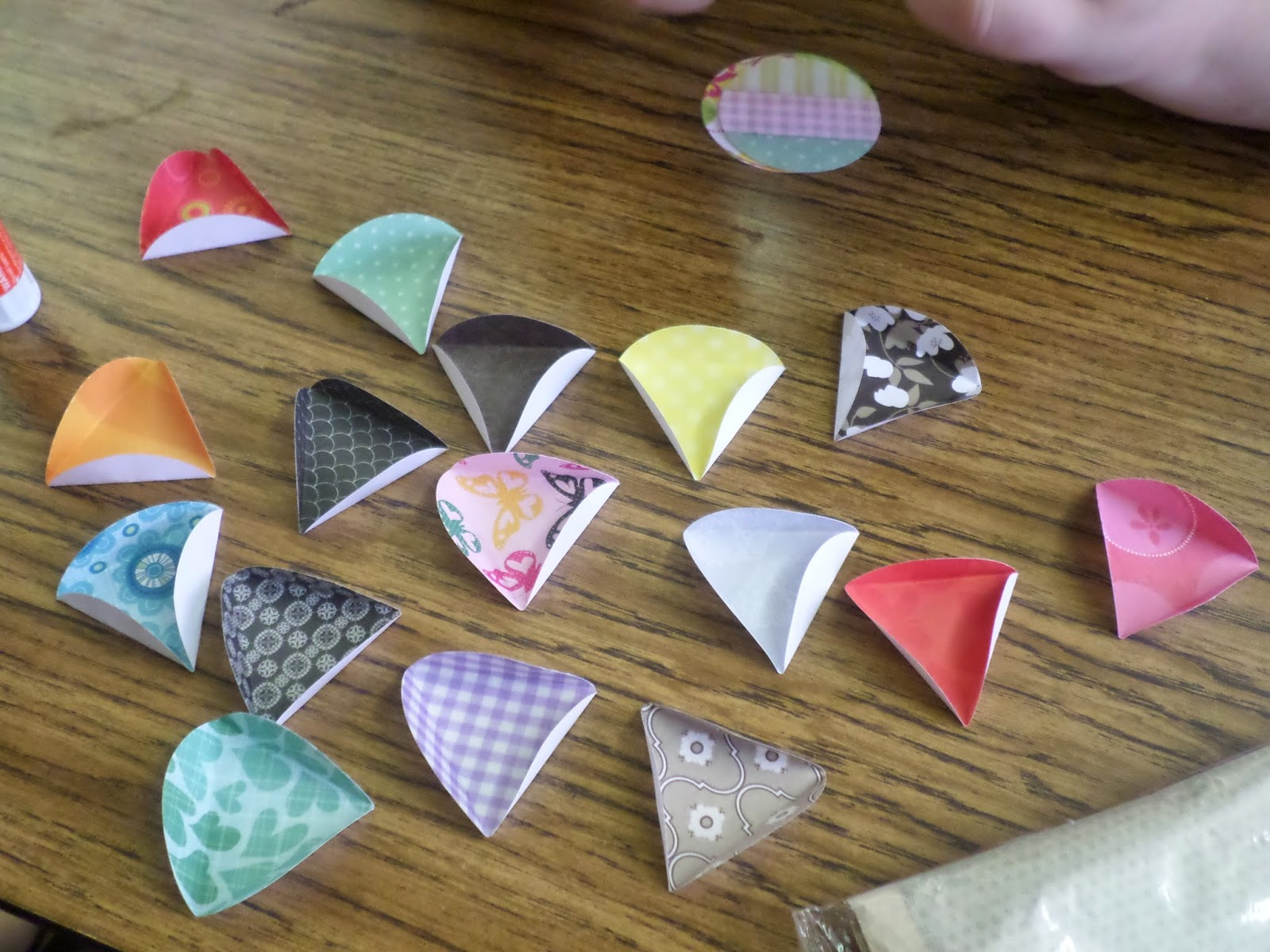 folded paper ornaments