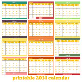 printable 2014 calendar one page printable calendar 2014