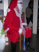 Santa makes a grand entrance