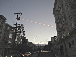 orange jet smoke