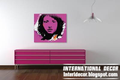 arabesque pop art paining, purple pop art painting