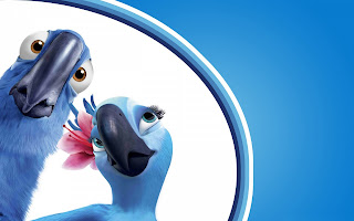 Rio Movie Parrots Cartoon HD Love Wallpaper