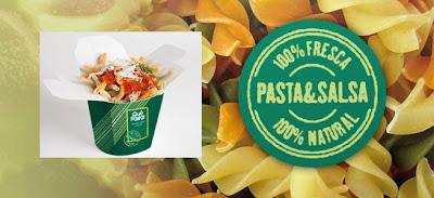 Logo y embase de Qué Pasta!