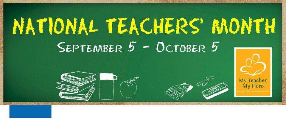 2013 National Teachers Month and World Teacher's Day Celebrations ...
