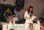 Abertura da Primeira Jornada na antiga sede da Ass. de Moradores do Vale do Capão em 1994)